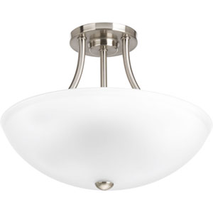 P3748-09 Gather Brushed Nickel Two-Light Semi Flush Mount
