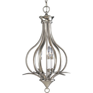 P3807-09:  Trinity Brushed Nickel Three-Light Pendant