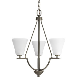P3821-20W Bravo Antique Bronze Three-Light Chandelier