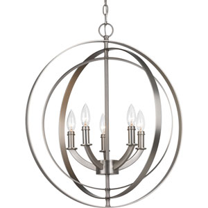 P3841-126 Equinox Burnished Silver Five-Light Pendant