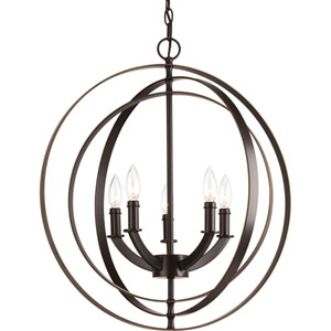 P3841-20 Equinox Antique Bronze Five-Light Pendant