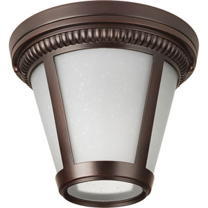 P3883-2030K9 Westport Antique Bronze 9-Inch One-Light Energy Star LED Flush Mount