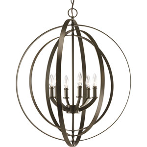 P3889-20:  Equinox Antique Bronze Six-Light Pendant