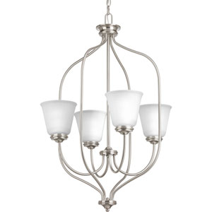P3891-09 Keats Brushed Nickel Four-Light Chandelier