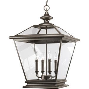 Crestwood Antique Bronze Four-Light Lantern Pendant with Clear Glass