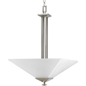 North Park Brushed Nickel Two-Light Bowl Pendant with Etched Glass