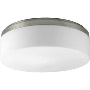 Maier Brushed Nickel Two-Light Flush Mount with Opal Etched Acrylic Bowl