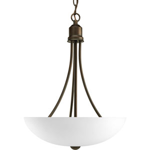 Gather Antique Bronze Two-Light CFL Bowl Pendant with Etched Glass Bowl