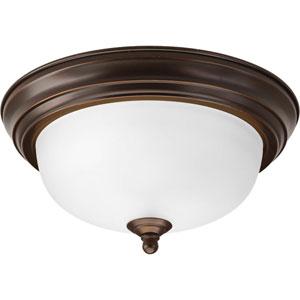 Antique Bronze One-Light Dome Glass Flush Mount