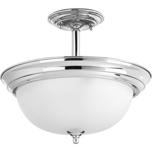 P3927-15ET Polished Chrome Two-Light Semi Flush Mount