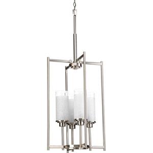 Alexa Brushed Nickel Four-Light Lantern Pendant