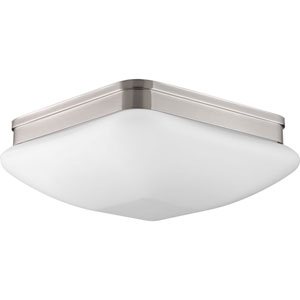 P3992-09 Appeal Brushed Nickel Three-Light Flush Mount