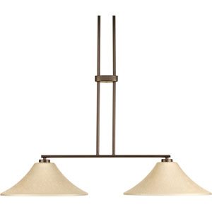 P4014-20EUL Bravo Antique Bronze 36-Inch Two-Light Island Pendant