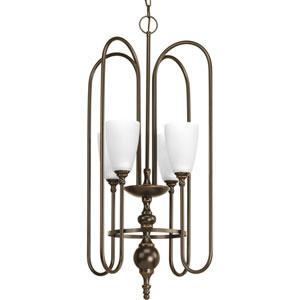 P4227-20 Revive Antique Bronze Four-Light 17.5-Inch Foyer Pendant