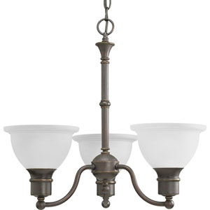 P4280-20:  Madison Antique Bronze Three-Light Chandelier