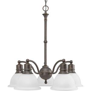 P4281-20:  Madison Antique Bronze Five-Light Chandelier