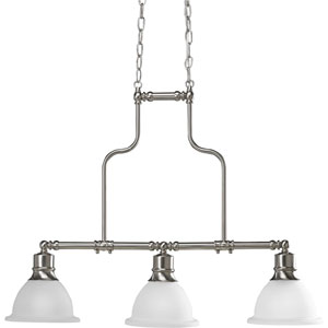 P4282-09:  Madison Brushed Nickel Three-Light Island Pendant