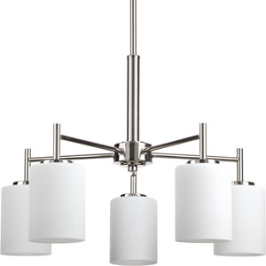 P4319-104 Replay Polished Nickel Five-Light 21-Inch Chandelier