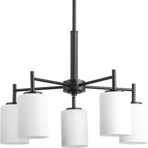 P4319-31 Replay Black Five-Light 21-Inch Chandelier