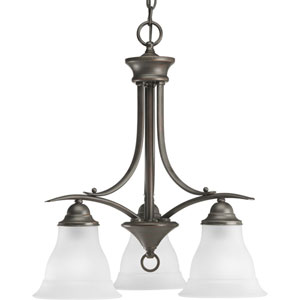 P4324-20:  Trinity Antique Bronze Three-Light Chandelier