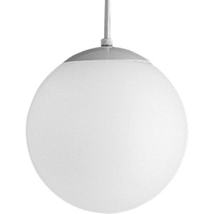 Opal Globes White 50-Inch One-Light Pendant with White Opal Glass