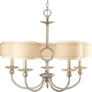 P4462-134:  Ashbury Silver Ridge Five-Light Chandelier
