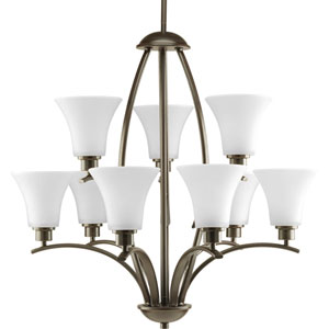 P4492-20W Joy Antique Bronze Nine-Light Chandelier