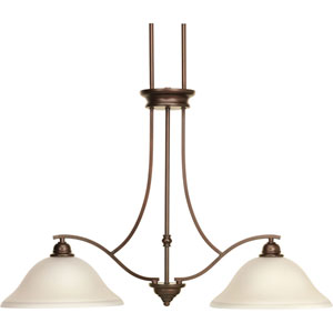 P4558-20 Spirit Antique Bronze 36-Inch Two-Light Island Pendant