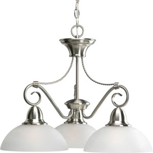 P4579-09:  Pavilion Brushed Nickel Three-Light Chandelier