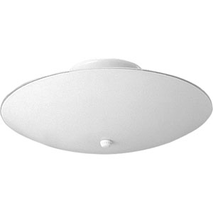 Round Glass White Two-Light Flush Mount with White Glass Shade
