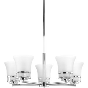 P4613-15 Cascadia Polished Chrome Five-Light Chandelier