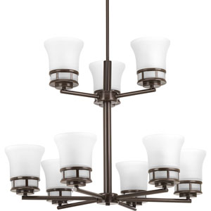 P4614-20 Cascadia Antique Bronze Nine-Light Chandelier