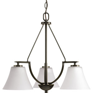 P4621-20W Bravo Antique Bronze Three-Light Chandelier