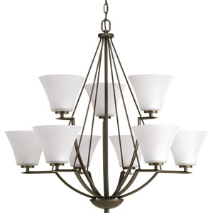 P4625-20W Bravo Antique Bronze Nine-Light Chandelier