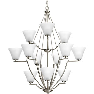 P4687-09 Bravo Brushed Nickel Twelve-Light 38-Inch Chandelier