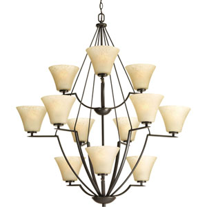 P4687-20 Bravo Antique Bronze Twelve-Light 38-Inch Chandelier
