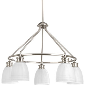 P4722-09 Lucky Brushed Nickel Five-Light Chandelier