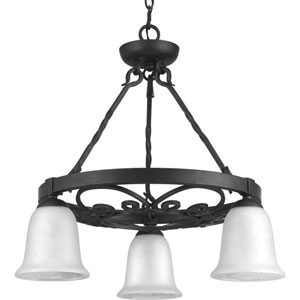 P4729-71 Enclave Gilded Iron Three-Light Chandelier