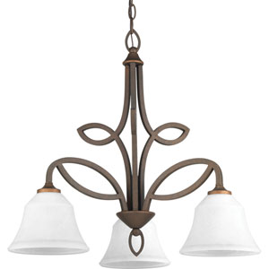 P4736-102 Monogram Roasted Java Three-Light Chandelier