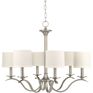 P4739-09 Inspire Brushed Nickel Six-Light Chandelier