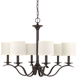 P4739-20 Inspire Antique Bronze Six-Light Chandelier