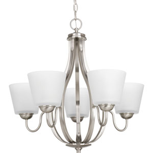 P4746-09 Arden Brushed Nickel Five-Light Chandelier