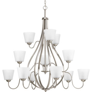 P4748-09 Arden Brushed Nickel Twelve-Light Chandelier