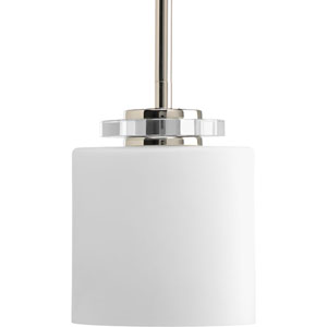 Nisse Polished Nickel One-Light Mini-Pendant with Opal Etched Glass