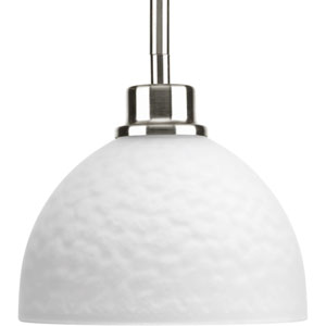 P5032-09 Legend Brushed Nickel 7-Inch One-Light Mini Pendant