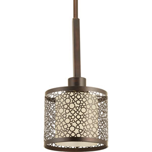 P5038-20 Mingle Antique Bronze 6-Inch One-Light Mini Pendant