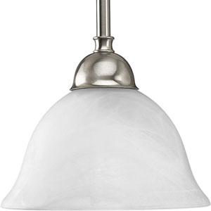 P5068-09:  Avalon Brushed Nickel Swirled Alabaster Mini Pendant