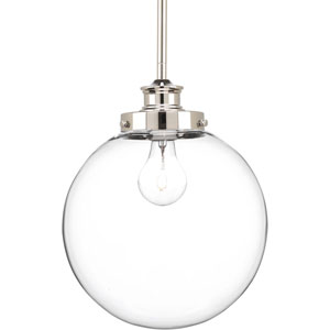 P5070-104 Penn Polished Nickel 10-Inch One-Light Globe Pendant