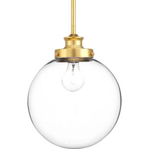 P5070-137 Penn Natural Brass 10-Inch One-Light Globe Pendant