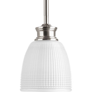 P5088-09 Lucky Brushed Nickel One-Light Mini Pendant